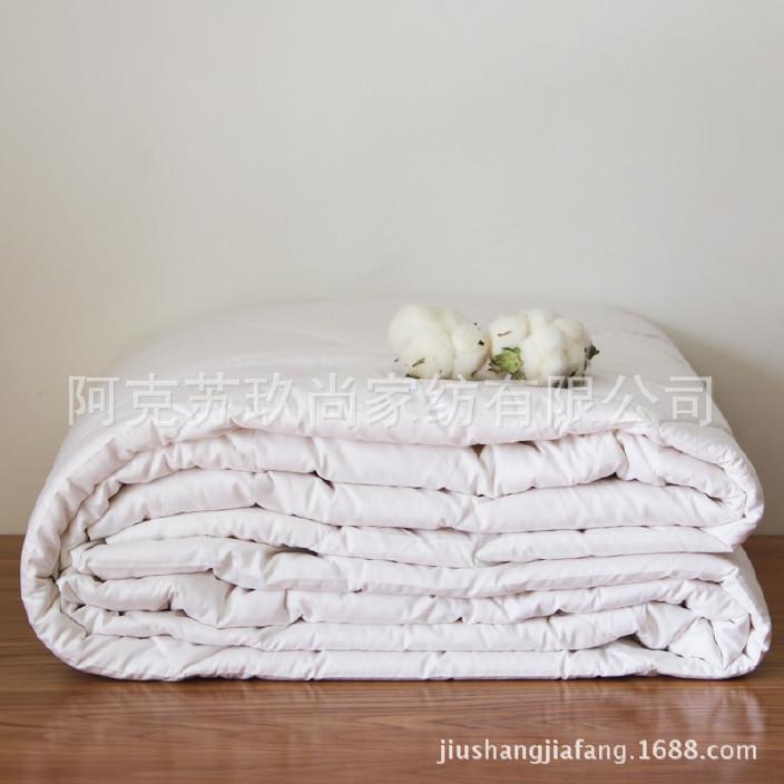 新疆棉被长绒纯棉花绗缝夏凉被/空调被全棉被子单人/双人春夏薄被图片
