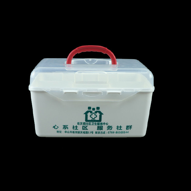 厂家直销塑料药箱 家用药箱 药品收纳箱手提箱药房赠品扶贫保健箱示例图23
