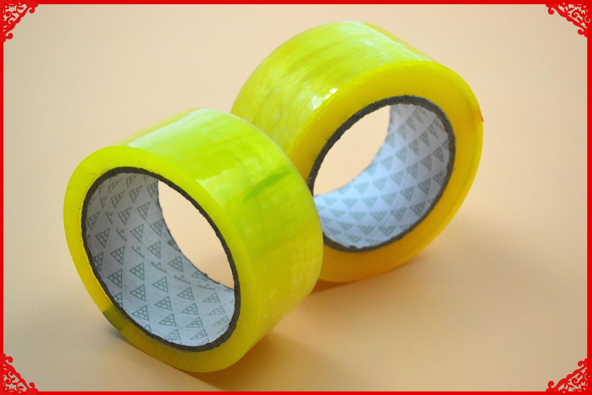 高粘度透明、黄色胶带4cm宽肉厚2.5cm封箱打包胶纸封口胶带批发示例图9