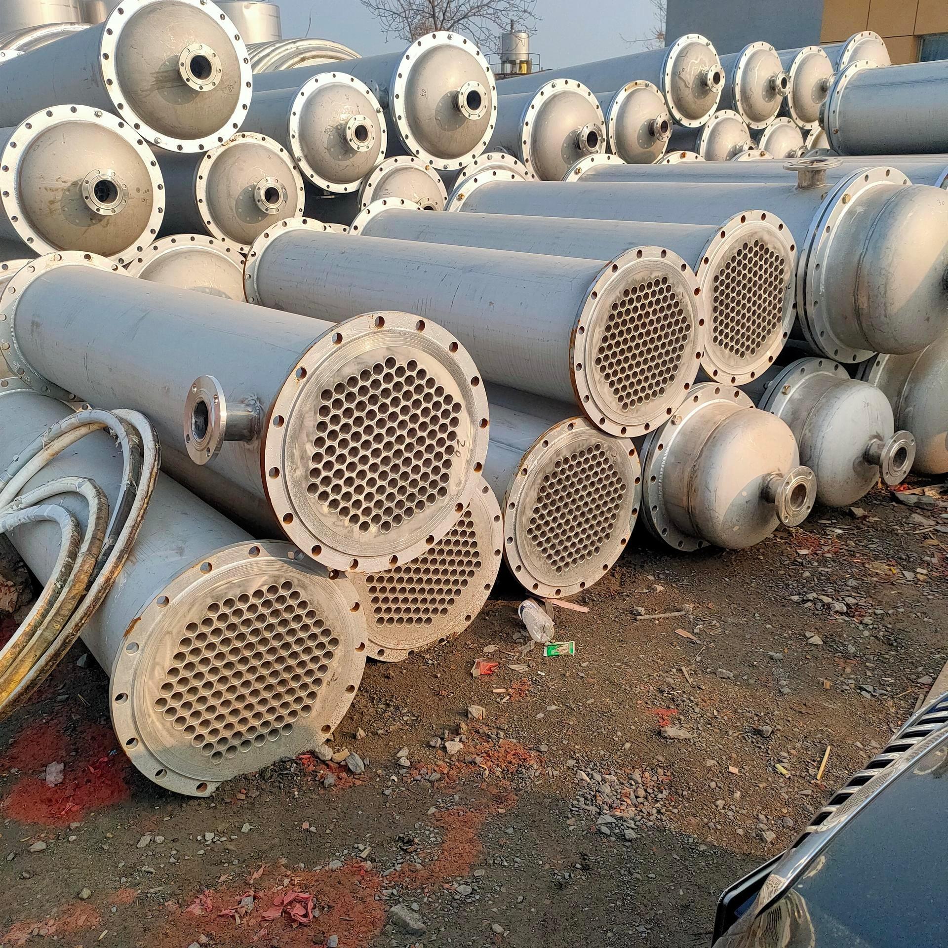 现售现货二手冷凝器 鲲鹏 二手不锈钢列管式冷凝器 二手搪瓷片式冷凝器 型号齐全