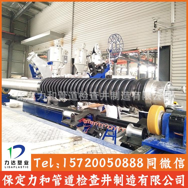 保定力和管道专业生产克拉管 聚乙烯缠绕结构壁管B型 100%全新料示例图6