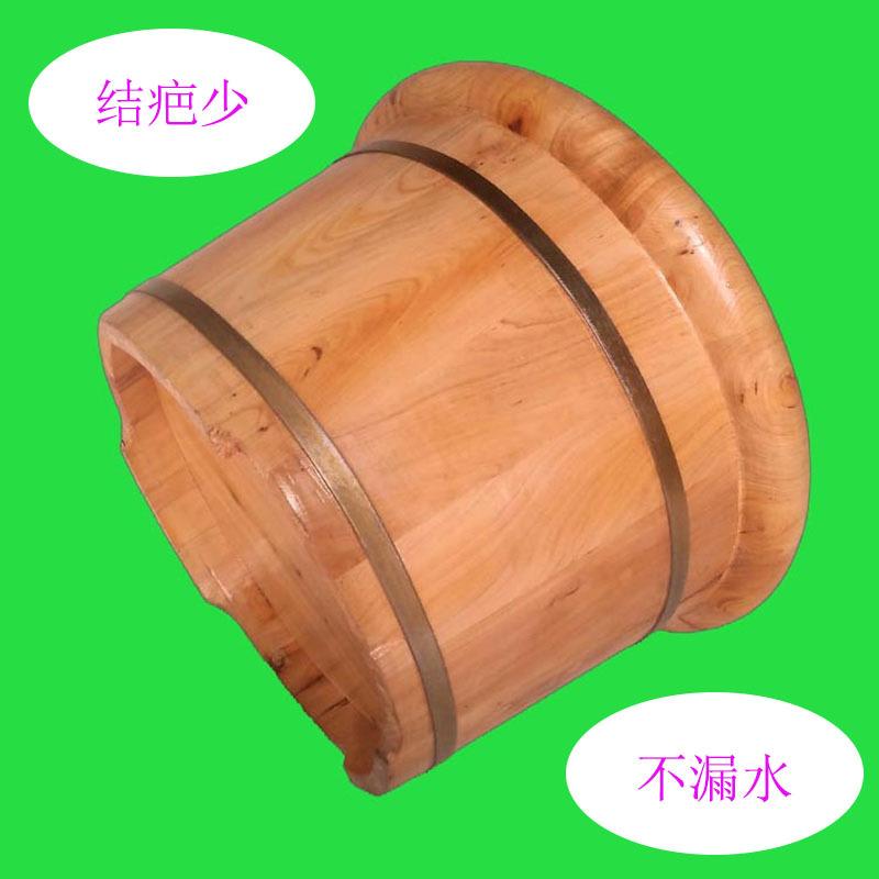 廠家直銷26圓邊木質足浴盆保健足療洗腳桶柏木養生泡腳木桶批發