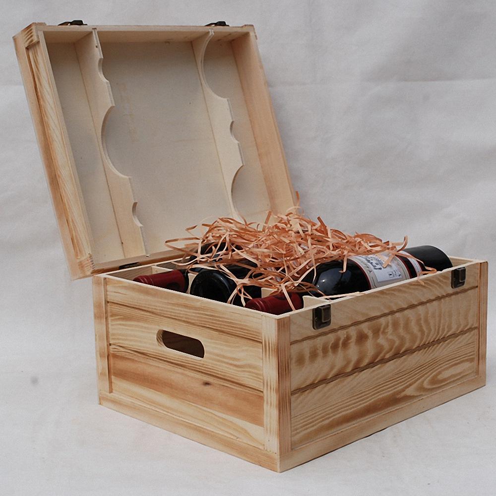加工定制高档六支红酒盒 红酒礼盒 精美葡萄酒包装盒量大从优