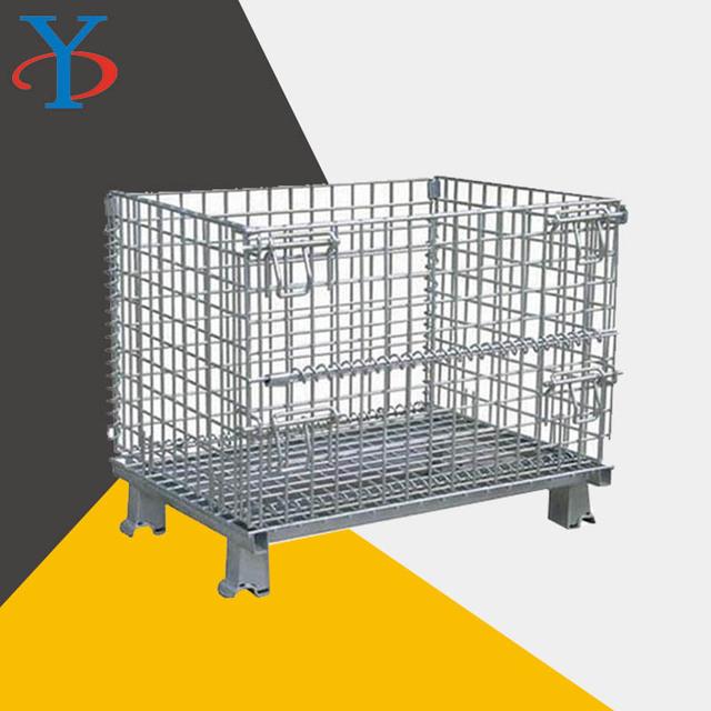 可定制  折疊式  倉儲籠  堆垛折疊  蝴蝶籠   上貨架物流周轉框   倉儲籠鐵籠子