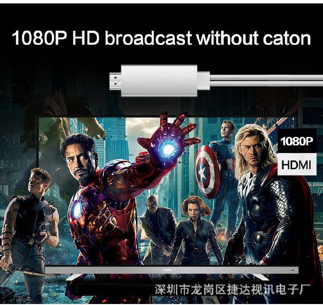 苹果连接手机投影仪安卓手机转hdmiiPhonei电视m6小米触摸屏v苹果图片