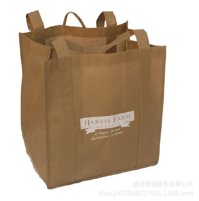 厂家定做手提连身无纺布袋子宣传广告礼品包装袋环保购物袋定制图片