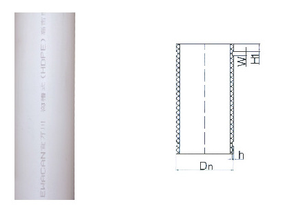 沟槽式HDPE排水管,HDPE沟槽式超静音排水管,沟槽PE管宜万川示例图7