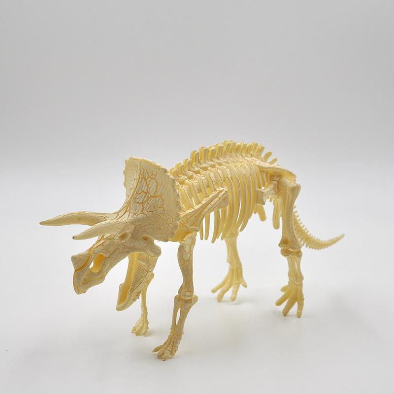 拼装儿童玩具化石益智玩具6款霸王龙恐龙三角龙翼龙迅猛龙猛犸象作文--我的剑龙小汽车图片