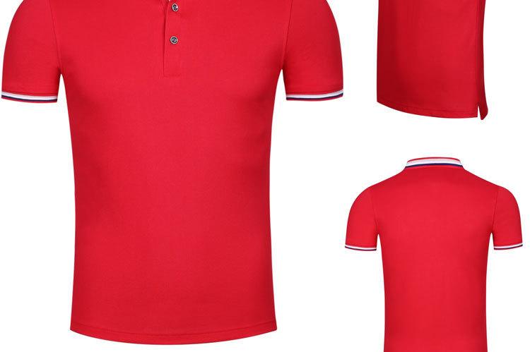 短袖间色工作服翻领t恤定制高档纯棉polo广告文化衫工衣制作logo示例图16