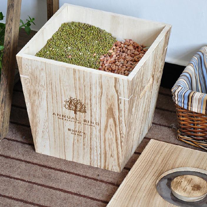 实木密封桐木米箱 木制储米箱 防蛀防潮米面粉缸定做批发