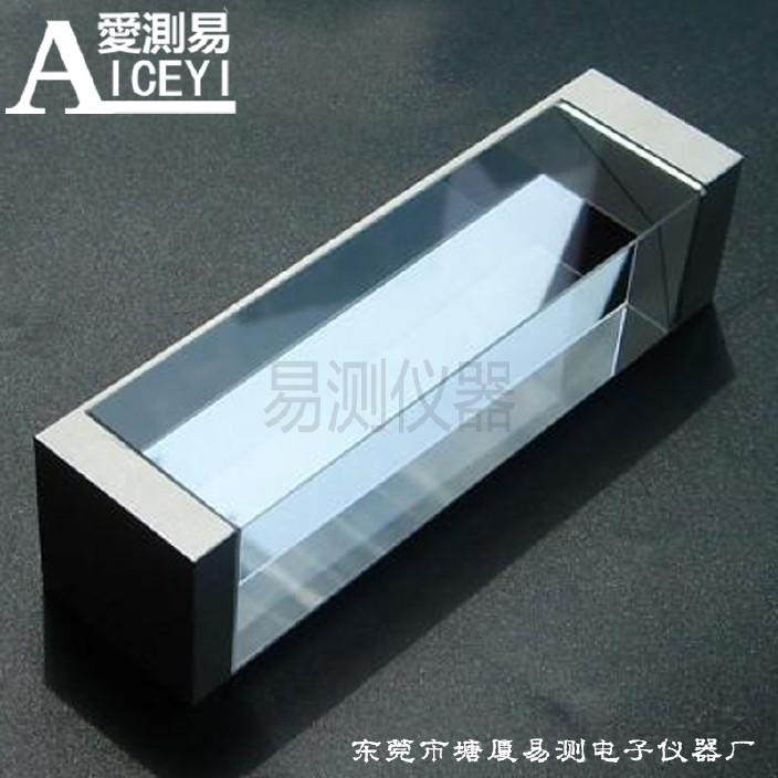 二次元光学测量棱镜带夹具等腰直角全反射三棱镜三角玻璃分光棱镜图片