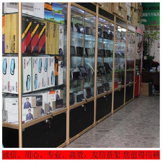 汽车用品展柜4s店专用展示柜汽车玻璃精品展柜导航仪展示柜