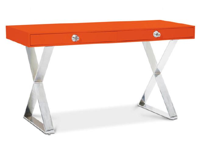 现代简约书桌电脑桌梳妆台美式写字台不锈钢妆凳椅酒店桌 桌类、