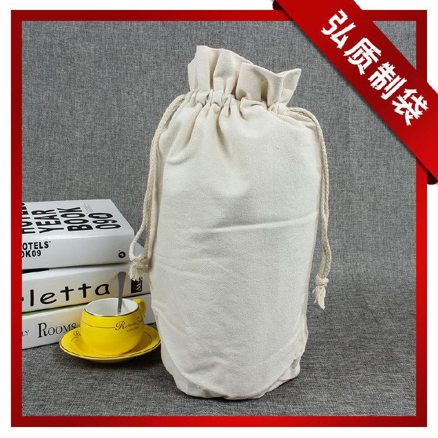厂家定制 空白棉布帆布束口袋 茶袋 大米袋 中药袋 环保抽绳袋图片