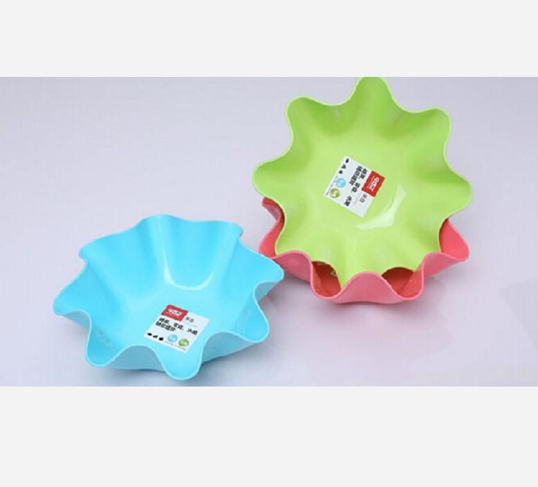 促销清仓甲克虫彩色八角加厚果盘 塑料瓜果盘 干果盘零食盘塑料盘图片