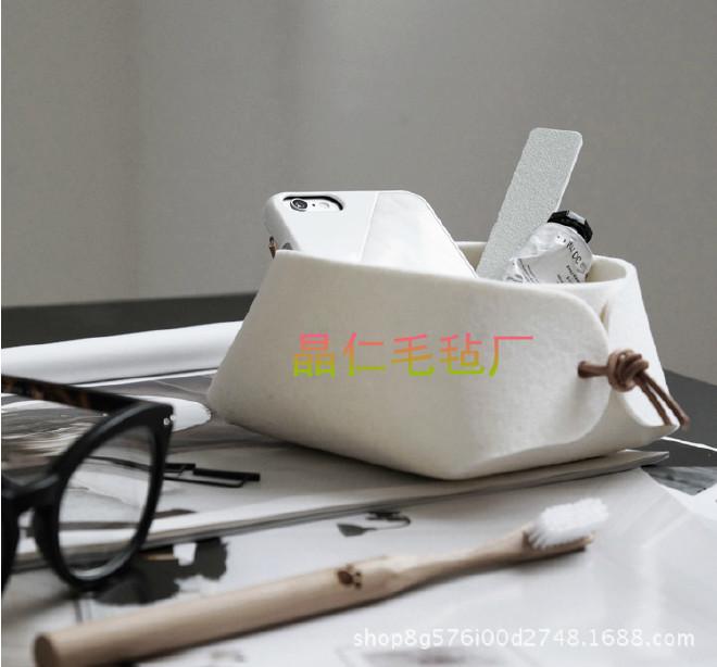 高档次收纳小框毛毡材质钥匙杂物盒 家居收纳 首饰盒 桌面收纳盒示例图10