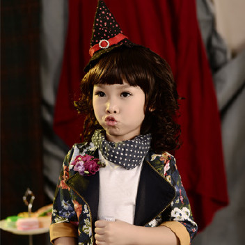 发型女童拍照发饰查看v发型软件头饰刘海发带短写真名字的假发叫什么宝宝图片