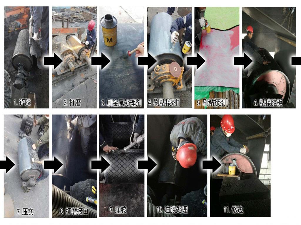 cn层滚筒包胶胶板 耐磨冷硫化cn层滚筒包胶胶板厂家示例图22