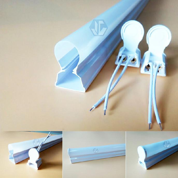 廠家直銷LEDT5全塑管單色系T5燈管配件T5塑料管塑料T5外殼圖片
