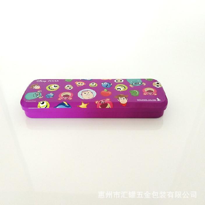 厂家定做马口铁文具盒小学生学习用品 创意图案笔盒 简单款文具盒