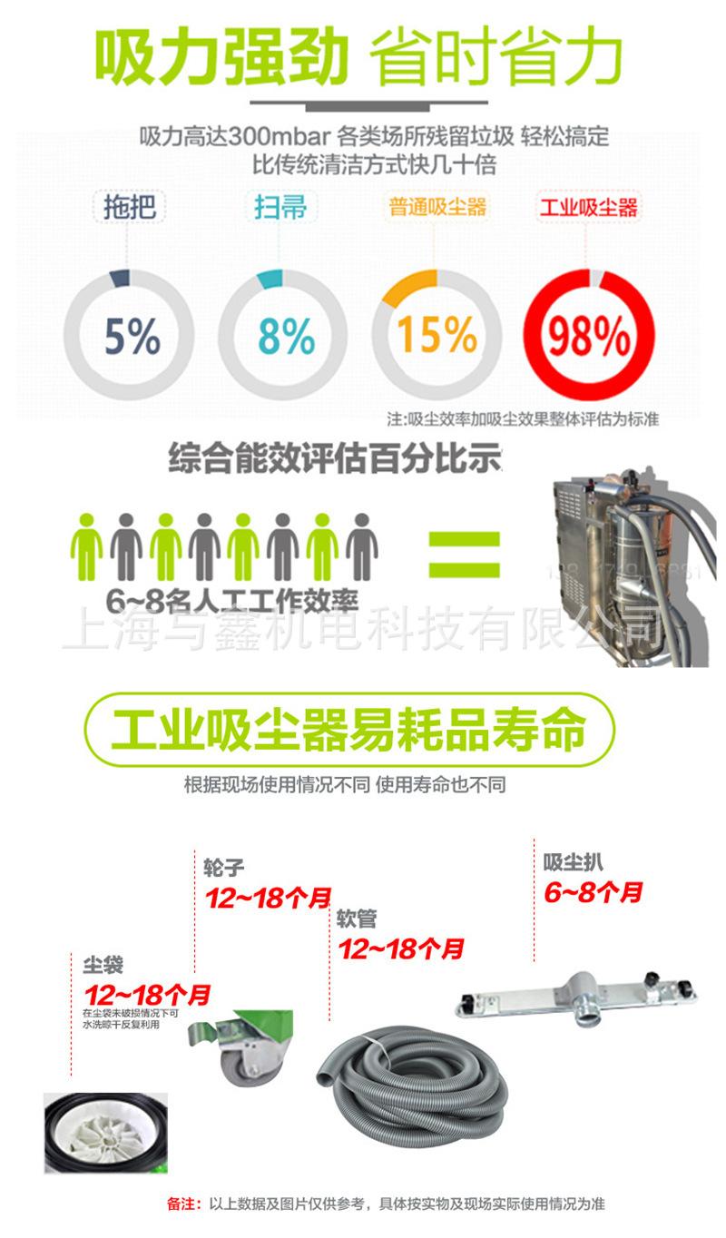车间移动式工业吸尘器 4000W大功率工业吸尘器 手动振尘吸尘机 工业移动式吸尘器示例图14