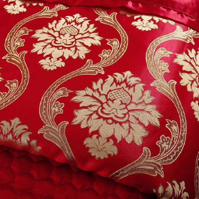 高档 美容床罩四件套七件套 大红色按摩床罩熏蒸床 通用款可订做示例图9