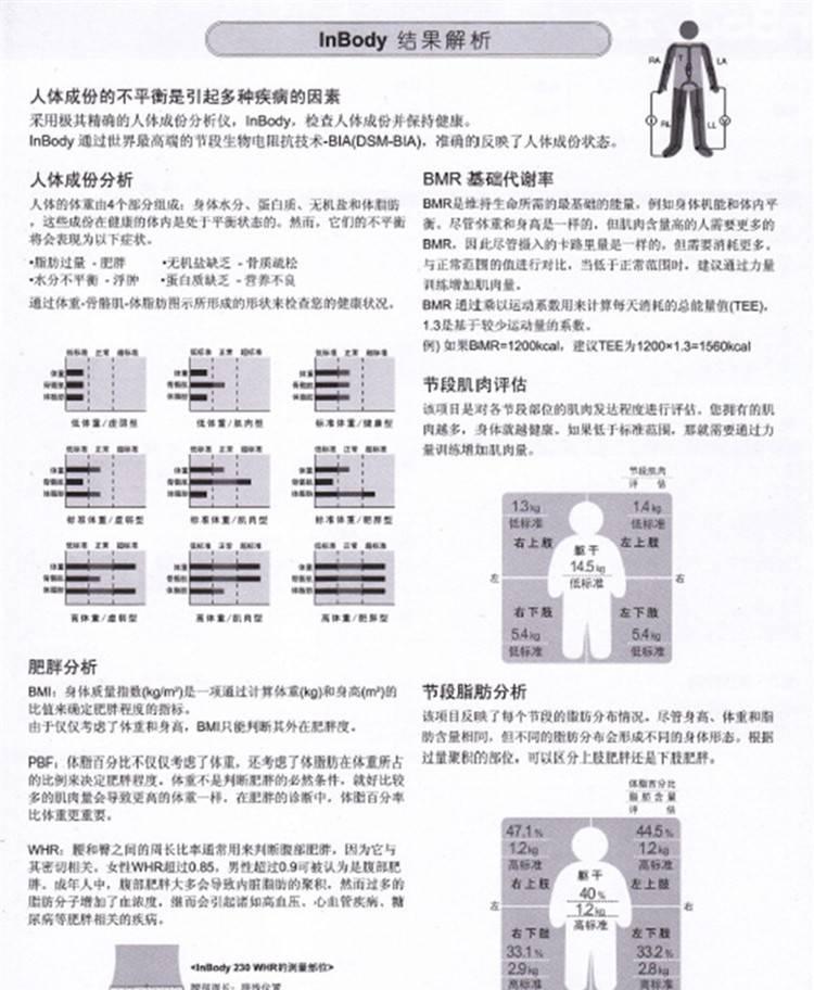 【韩进口inbody270人体成分分析测试仪健身房