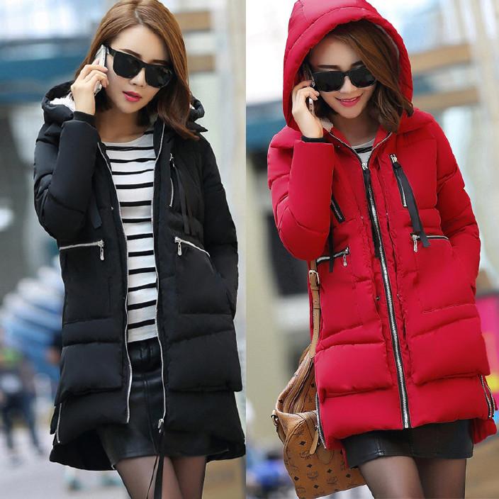 新款时尚大码女装冬季欧美军工装中长款棉服羽绒棉衣休闲棉袄潮图片