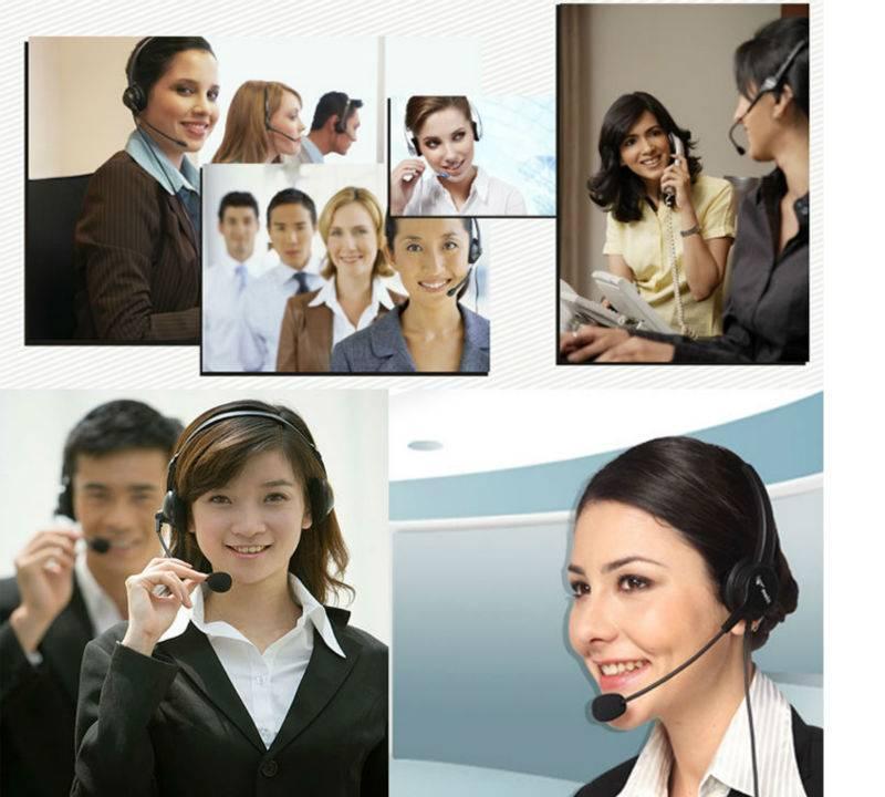 品牌usb接口电脑耳机呼叫中心电脑耳麦 头戴式话务耳机电话耳麦