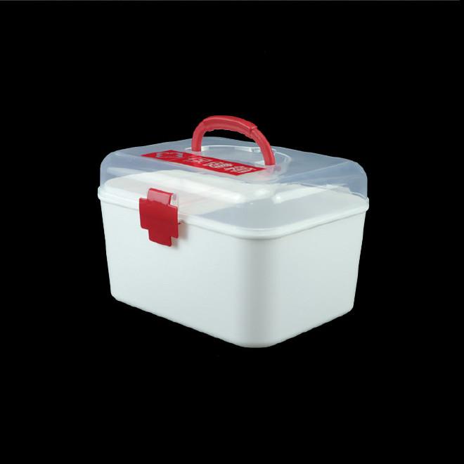 厂家直销塑料药箱 家用药箱 药品收纳箱手提箱药房赠品扶贫保健箱示例图5