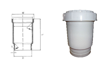 HDPE沟槽式静音排水管,沟槽式中空排水管,PE沟槽管,伸缩节示例图8