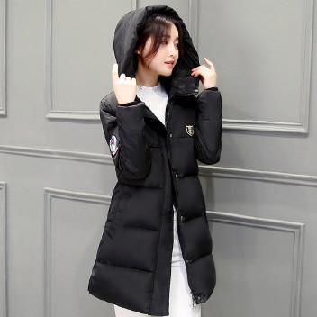 批发2018棉衣新款女欧美秋冬季外套羽绒棉服学生中长棉衣图片