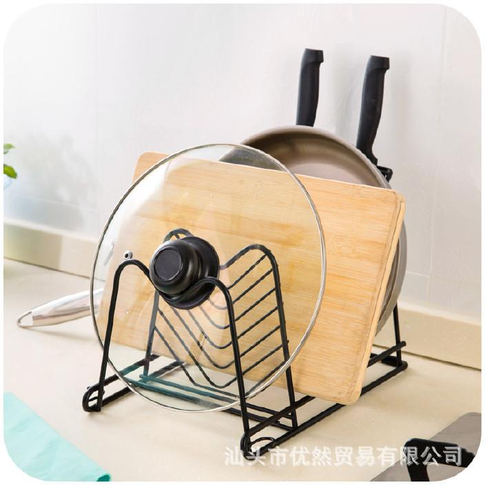 厨房用品置物架刀架锅架厨具挂架收纳架植物架多层调料架子锅盖架图片