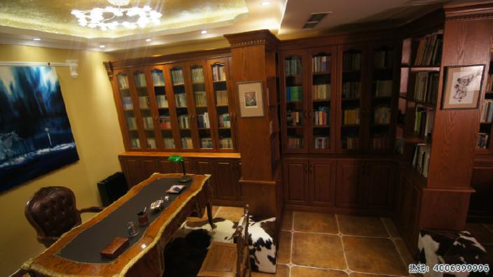 北京实木家具 定制书柜 欧式书柜 美式实木书柜定制 工厂直销