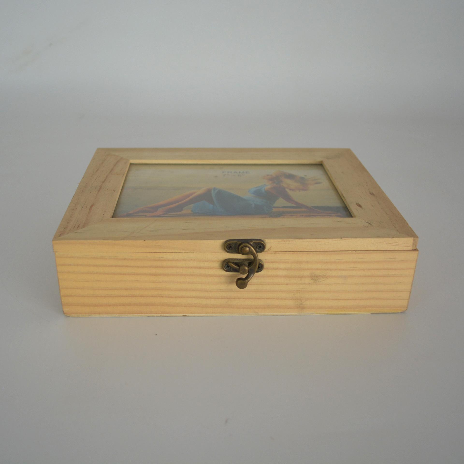 木质收纳木盒多功能桌面礼品包装盒多肉木盒木盒加工定做