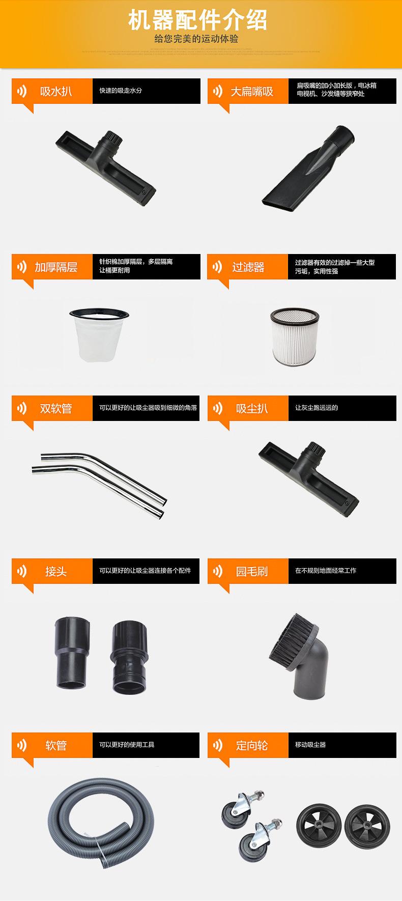 厂家直销吸石墨粉尘吸尘器 移动式脉冲反吹工业吸尘器 铝屑吸尘器示例图12