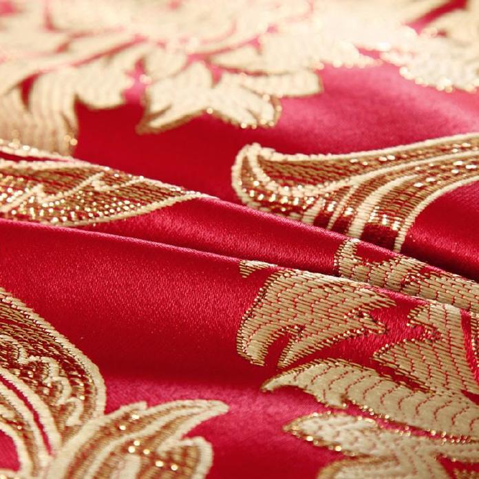 高档 美容床罩四件套七件套 大红色按摩床罩熏蒸床 通用款可订做示例图11