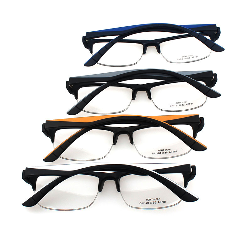 韩国进口tr90材料,半框结构下面部分用吊丝,减轻鼻子压力,是配镜