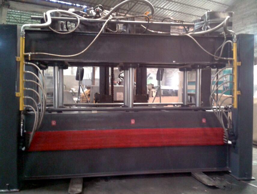 佛山亨力特厂家直销空调用发泡板层压机5层4米实心加热板层压机