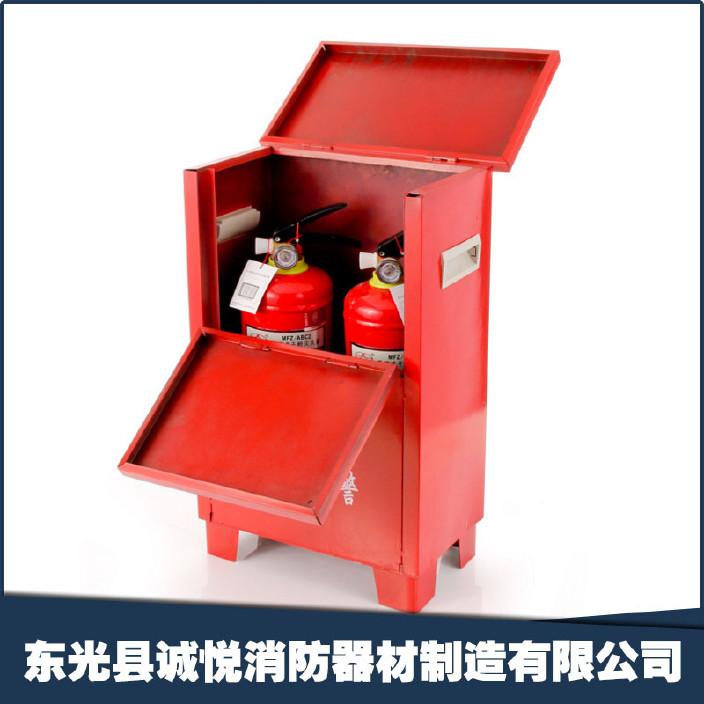 5*2两具灭火器箱消防器材箱沙箱消防器材展示柜检查包过图片
