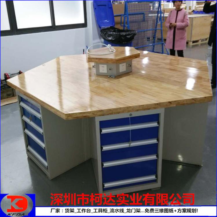 六角模工台六角工作台学校实验室六角钳工桌示例图4