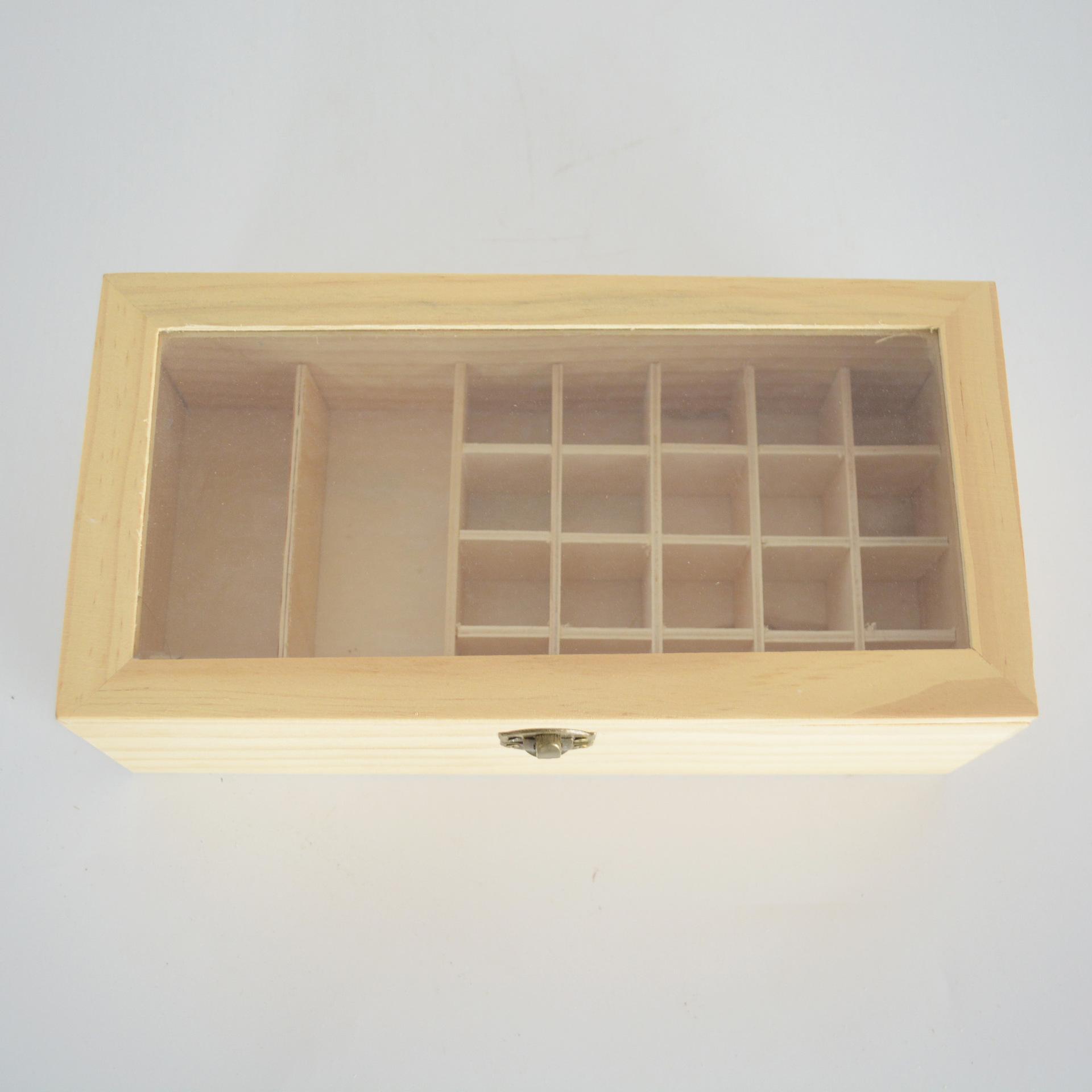 供应木质玻璃盖包装茶叶木盒 高档茶叶木盒厂家定制礼盒茶叶木盒