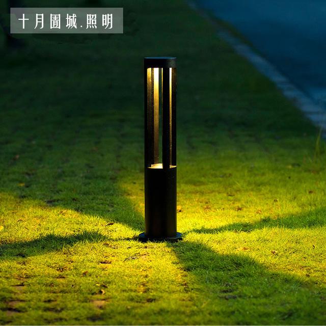 LED户外防水草坪灯 花园别墅公?#23433;?#22378;小夜灯 装饰灯柱  太阳能草坪灯