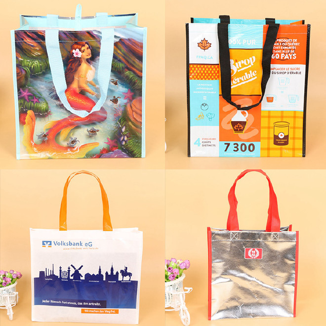 厂家定做无纺布袋子覆膜袋彩色环保无纺布袋手提购物袋可定制LOGO图片
