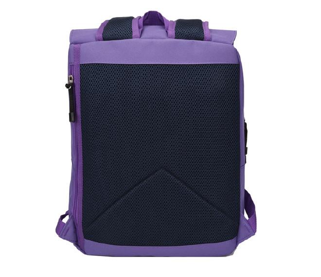 2016新款时尚韩版学院风带盖双肩学生书包 纯色休闲旅游包批发示例图33