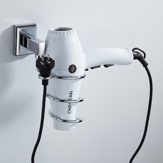 全銅歐式 吹風機架 衛生間吹風機架置物架電吹風機架子可定制