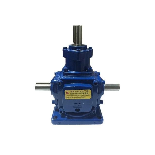 厂家专业供应直角减速机、转向器 T螺旋锥齿轮换向器 十字换向器T2 T3 T4 速比1 2 3 4 5可非标定制