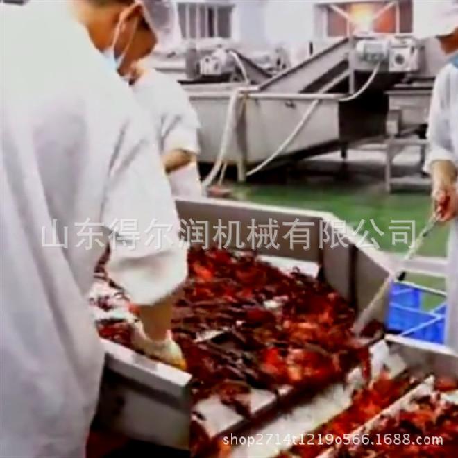 潍坊专业清洗小龙虾设备 寿光小龙虾油炸加工成套线 小龙虾如何做
