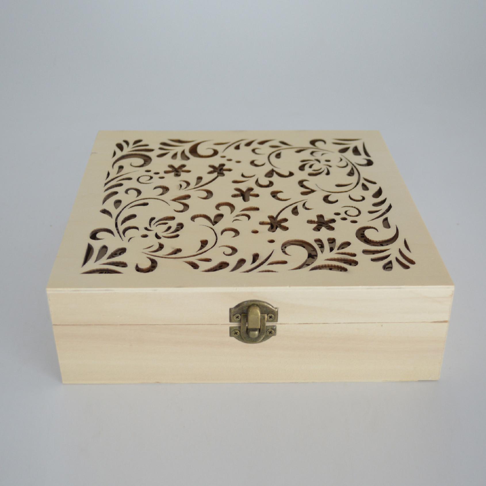 正方镂空香盒 雕刻创意摆件檀香炉 熏香盒 卧香盒 厂家直销