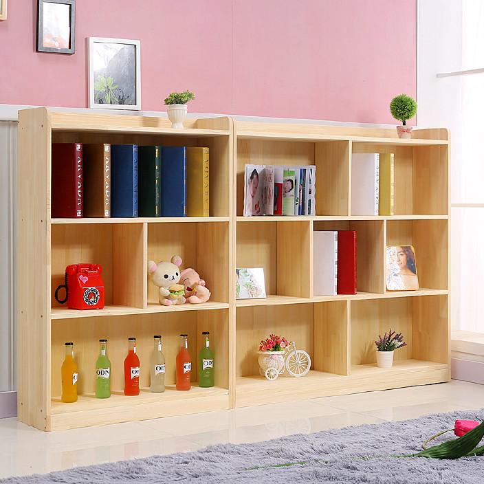 幼儿园儿童实木书柜松木书架组合杉木玩具收纳柜置物架厂家批发